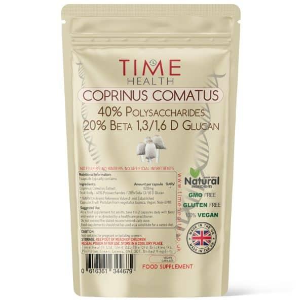 Coprinus Comatus Mushroom Extract 40% Polysaccharides 20% Beta Glucan capsules