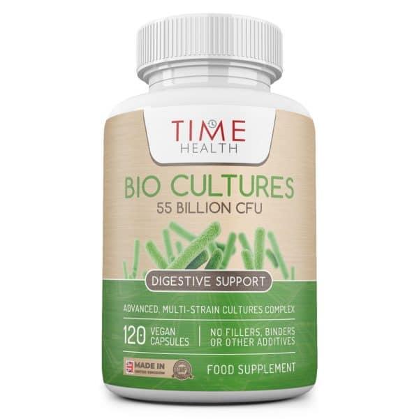 Bio Cultures Complex– 55 Billion CFU – Delayed Release Capsules – Includes Lactobacillus Acidophilus and Bifidobacterium lactis – Made in the UK - Additive Free