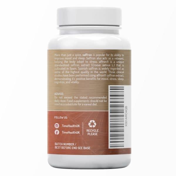 Saffron Complex Capsules - with Choline, Quercetin and Omega 3 - affron - UK Made - Zero Additives