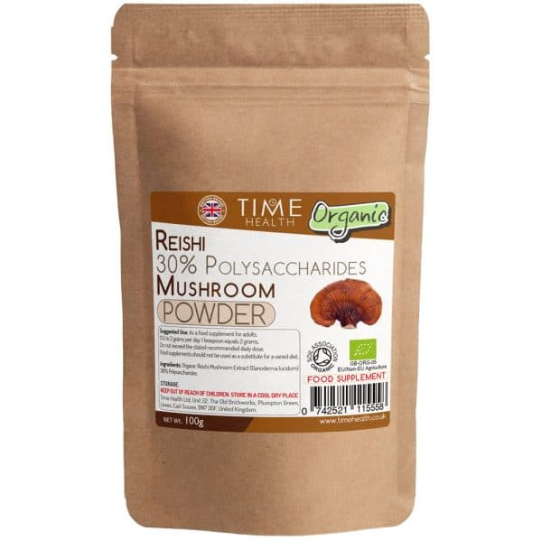 Organic Reishi Extract Powder - EU Grown Reishi Mushrooms - 100g