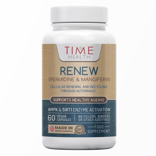 Renew - with Spermidine & Mangiferin - Naturally Derived from Mango & Buckwheat - 60 Capsules