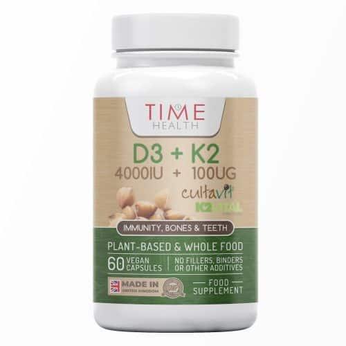 Vitamin D3 + K2 - 4000IU + 100UG - 60 Capsules - UK Made - GMP Standards - No Additives
