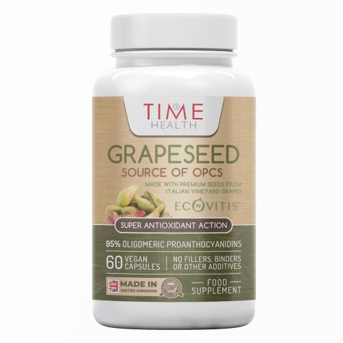 OPC Grape Seed Extract Capsules - Min. 95% OPCs - 10,000mg Grapeseed Equivalent - Made with Italian Vineyard Grapes - Ecovitis™ - UK Made Supplement - Zero Additives - GMP Standards - Vegan