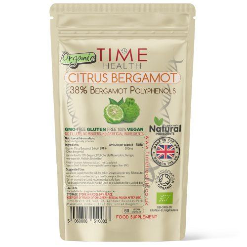 Organic Citrus Bergamot Extract - 38% Bergamot Polyphenols - 500mg per Capsule - Premium BPF®