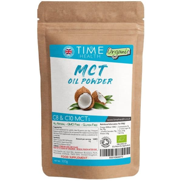 Organic Coconut MCT Oil Powder - C8 & C10 - Ideal for Keto Diet - Unflavoured - Vegan